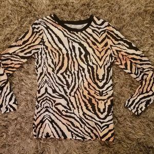 Zebra print long sleeve shirt